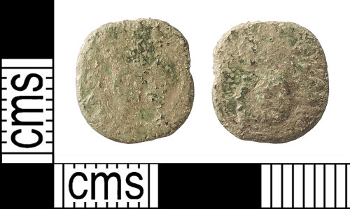 IOW-235104: Post-Medieval Coin: Rose Farthing of Charles I