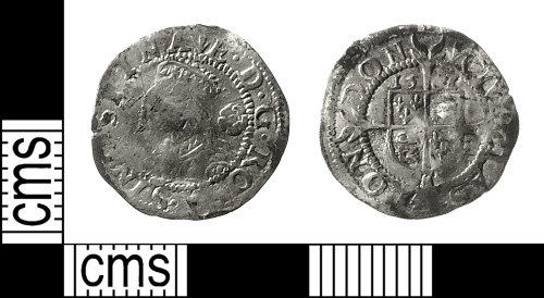IOW-44A33D: Post-Medieval Coin: Three-halfpence of Elizabeth I