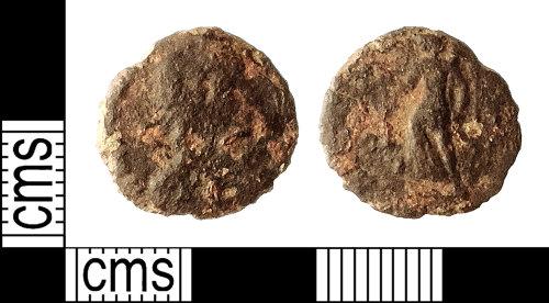 IOW-9DA3CC: Roman Coin: Nummus of the House of Valentinian