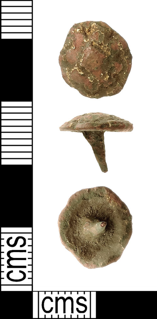 IOW-838128: Medieval to Post-Medieval Stud or Mount