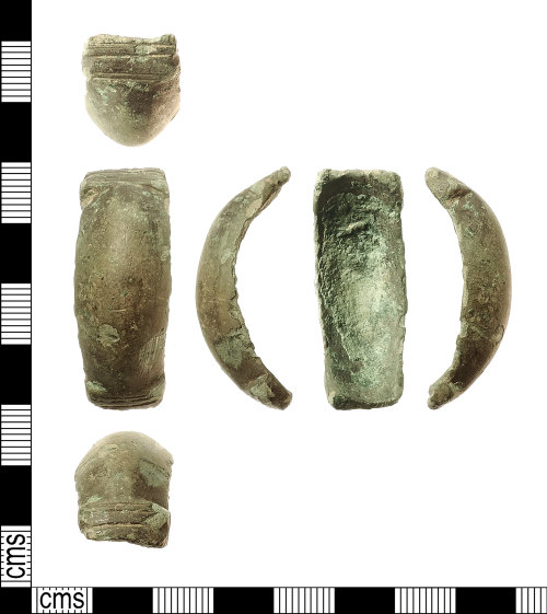 IOW-FF9F35: Early-Medieval (Anglo-Saxon) Small-long Brooch