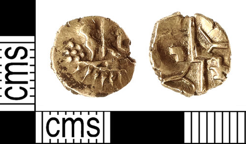 IOW-2347DC: Iron Age Coin: Gold Quarter Stater of the Belgae / Southern Region