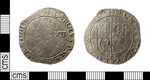 IOW-1E9084: Post-Medieval Coin: Shilling of Charles I