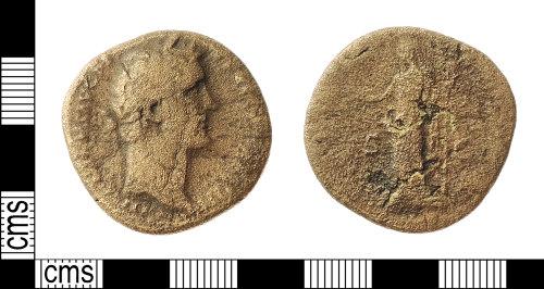 IOW-760F82: Roman Coin: Sestertius of Antoninus Pius
