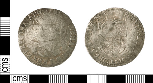 IOW-36B226: Post-Medieval Coin: Shilling of Philip and Mary