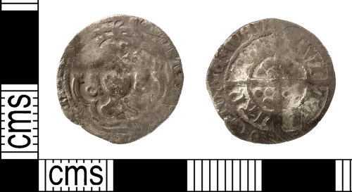 IOW-D9A5B0: Medieval Coin: Halfgroat, probably of Edward IV (Second reign)