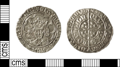 IOW-164D2C: Medieval Coin: Groat of Edward IV (second reign)