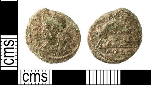 IOW-C8D9E4: Roman Coin: Nummus