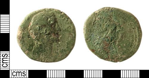 IOW-BFD3AA: Roman Coin: Sestertius of Antoninus Pius