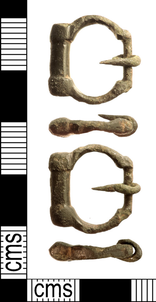 IOW-75F5CC: Medieval Buckle  (Meols type 11)