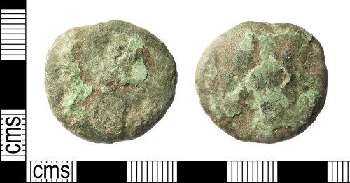 IOW-21C69D: Roman Coin: Dupondius or As (uncertain Ruler)