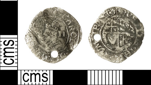 IOW-182482: Post-Medieval Coin: Halfgroat of Charles I