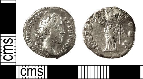 IOW-6D259E: Roman Coin: Denarius of Antoninus Pius