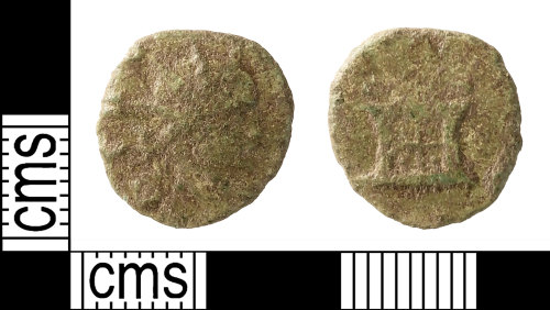 IOW-8DD9AF: Roman Coin: Radiate of Divus Claudius II (possibly a contemporary copy)