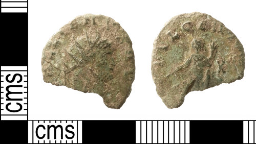 IOW-8DB8D6: Roman Coin: Radiate of Gallienus (sole reign)