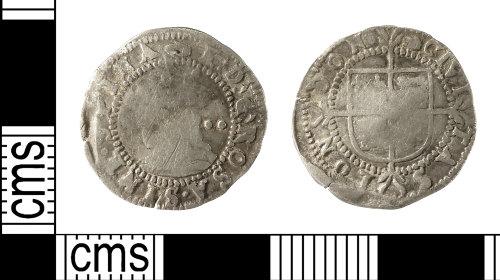 IOW-92056A: Post-Medieval Coin: Halfgroat of Elizabeth I