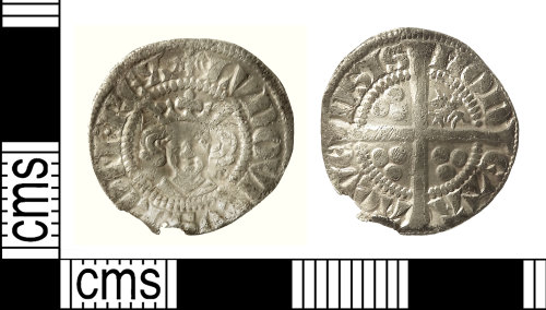 IOW-A7E470: Medieval Coin: Imitation Sterling Penny of Louis IV of Bavaria, Holy Roman Emperor