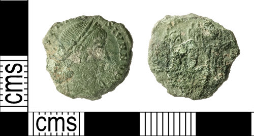 IOW-9E0160: Roman Coin: Nummus of Constantine II