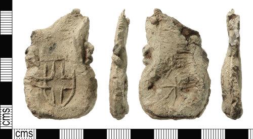 IOW-FBCDCB: Medieval Pilgrim Ampulla