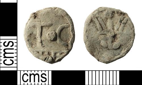 IOW-77AB82: Post-Medieval Lead Token
