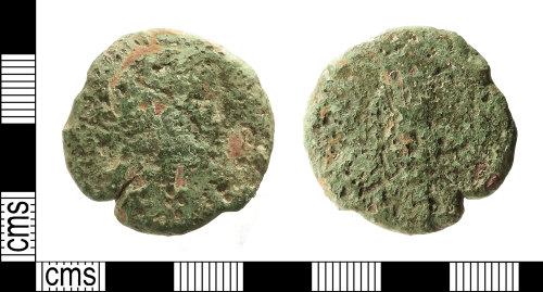IOW-B06C02: Roman Coin: Sestertius, possibly of Antoninus Pius