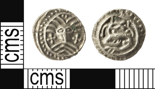IOW-51DE92: Early-Medieval (Anglo-Saxon) Series X, Type 31 Sceat