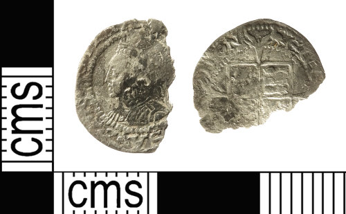 IOW-6AC26E: Post-Medieval Coin: Penny of Elizabeth I