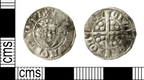 IOW-18F8C6: Medieval Coin: Penny of Edward I