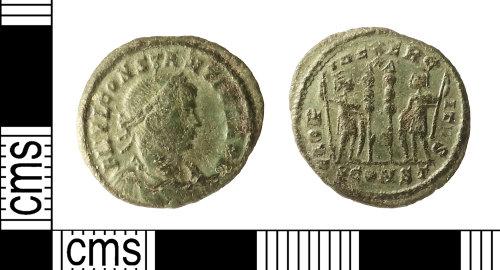 IOW-071A53: Roman Coin: Nummus of Constantius II