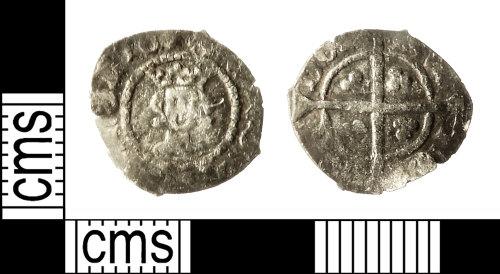 IOW-1B49B5: Medieval Coin: Halfpenny of Richard II