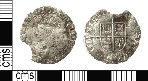 IOW-832274: Post-Medieval Coin: Groat of Mary