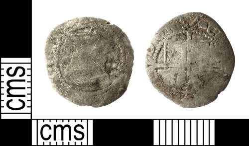 IOW-849E06: Post-Medieval Coin: Halfgroat of Elizabeth I