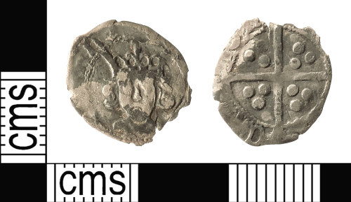 IOW-F51D9C: Medieval Coin: Penny, probably of Edward IV (second reign)