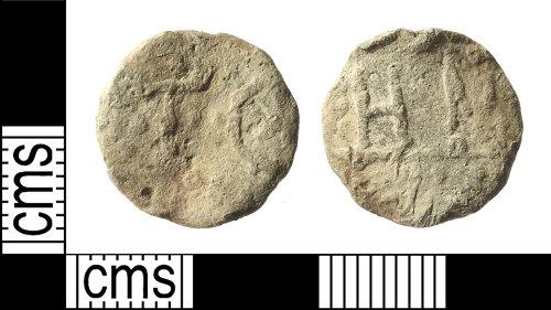 IOW-5B6DDA: Post-Medieval Lead Token