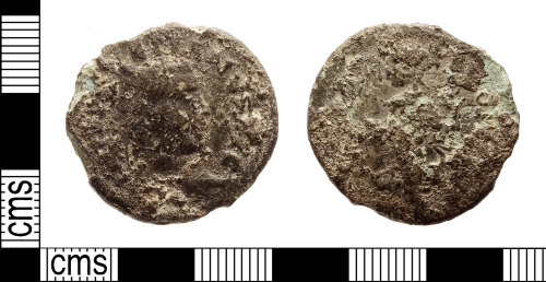 IOW-5B3A5A: Roman Coin: Nummus, probably of Maximian I