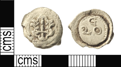 IOW-9707AD: Post-Medieval: Cloth Seal from Haarlem, Netherlands