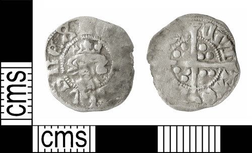 IOW-1E5899: Medieval Coin: Halfpenny of Edward III