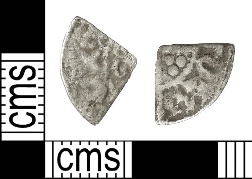 IOW-BA63C1: Medieval Coin: Cut Farthing of Henry III