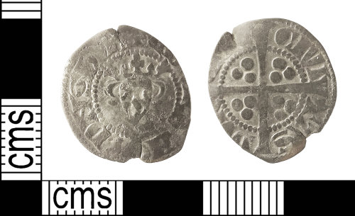 IOW-C090D7: Medieval Coin: Penny of Edward I