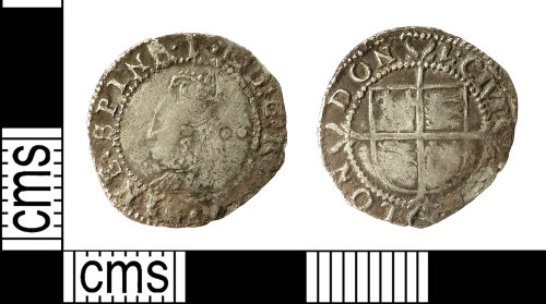 IOW-342543: Post-Medieval Coin: Halfgroat of Elizabeth I