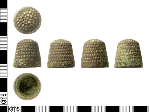 IOW-49176B: Medieval to post-Medieval Closed Thimble