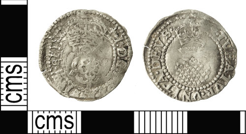 IOW-DB33D1: Post-Medieval Coin: Halfgroat of James I