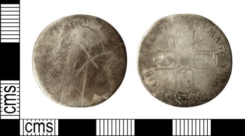IOW-0E3E0A: Post-Medieval Coin: Shilling of James II