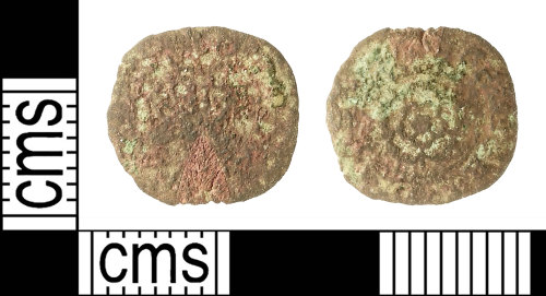 IOW-5A7BB8: Post-Medieval Coin: Rose Farthing of Charles I