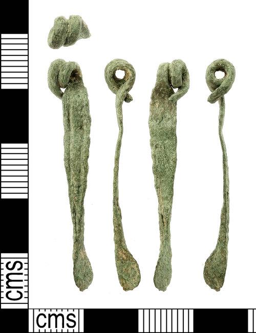 IOW-603EB7: Iron Age to Roman  'Nauheim Derivative' La Tene III One-piece Brooch
