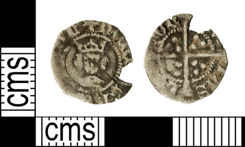 IOW-4E98F9: Medieval Coin: Halfpenny of Henry VI