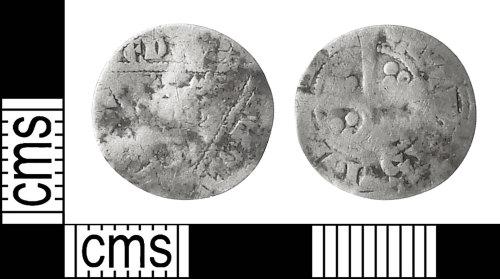 IOW-FE574C: Medieval Coin: Irish Halfpenny of Edward I