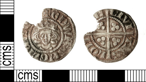 IOW-4F7608: Medieval Coin: Penny of Edward I