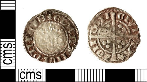 IOW-522F5D: Medieval Coin: Penny of Edward I