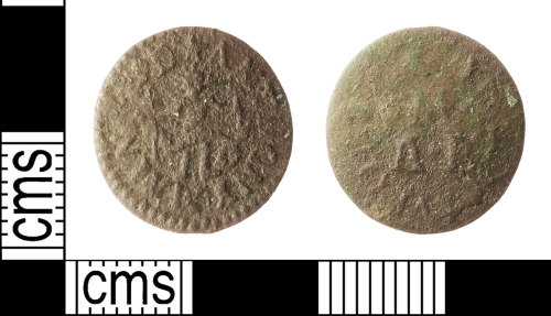IOW-47F7E8: Post-Medieval: Token Farthing of Anthony Maynard, Apothecary of Newport, Isle of Wight